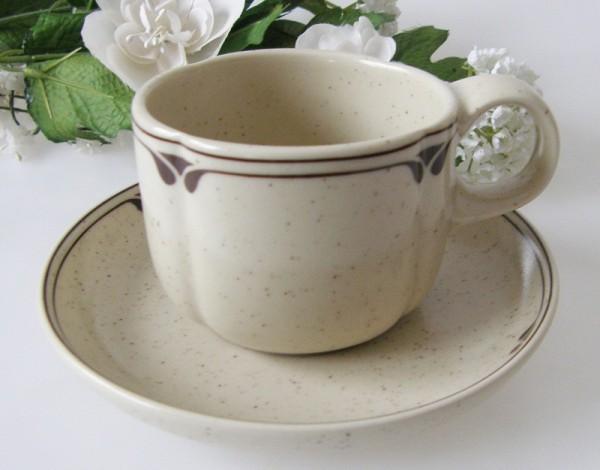 Rosenthal Form ohne Namen, Britta Kaffeetasse mit Untertasse, 2-tlg.