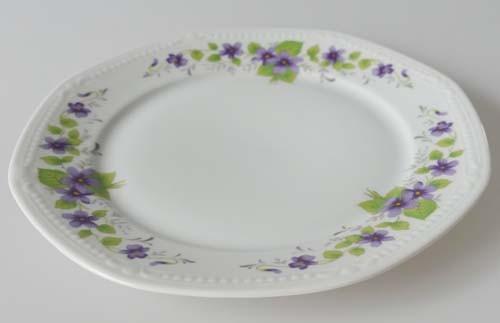 Mitterteich Form 140 Dekor Veilchen lila Frühstücksteller 19,5 cm gebr.