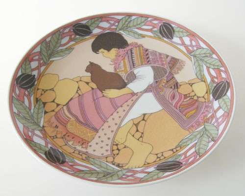 Villeroy & Boch Heinrich Sammel/Wandteller 19,5 cm Kinder der Welt Nr. 6