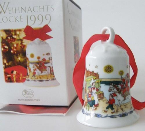 Hutschenreuther Porzellan Weihnachtsglocke In den Grachten 1999