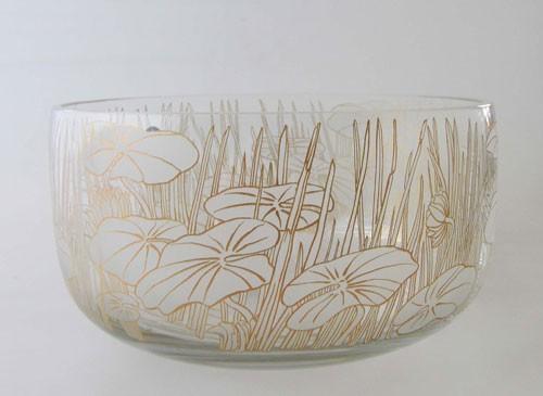 Rosenthal Fleur du Lac Glasschale 21 cm Schüssel rund
