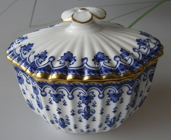 Spode Fleur De Lys, blau Zuckerdose 0,20 l