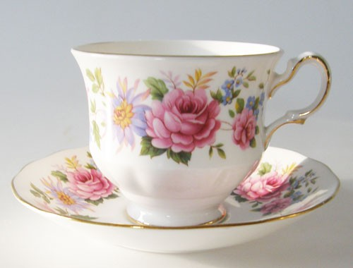 Queen Anne Serenade Kaffeetasse mit Untertasse