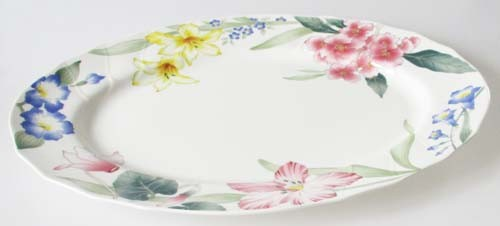 Villeroy & Boch Flora Bella große Platte oval 43x31,5 cm gebraucht