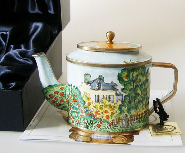 Goebel Mini Teekanne Monet Künstlerhaus 8,5 cm