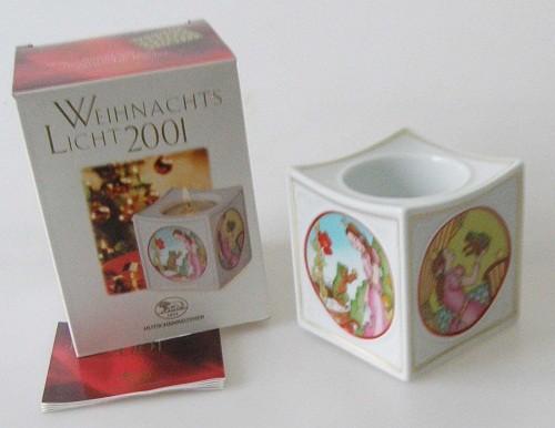 Hutschenreuther Porzellan Weihnachtsslicht Froschkönig 2001
