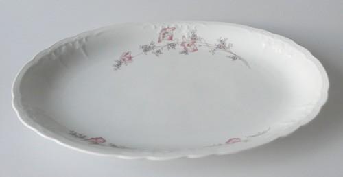 Seltmann Weiden Julia rosa Blüte Platte oval 35x24 cm