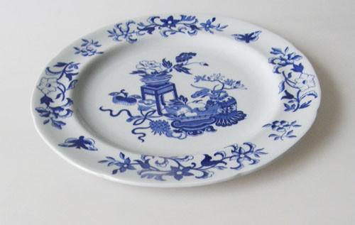 Spode Copeland Blue Bowpot Frühstücksteller 19,5 cm