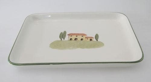 Servierplatte 26,5x19 cm Bella Toscana Zeller Keramik