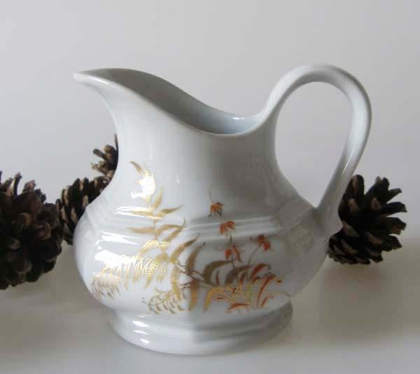 Gallo G.de Porcelaine Leonardo Fougere Goldfarn Milchkännchen 0,15 l