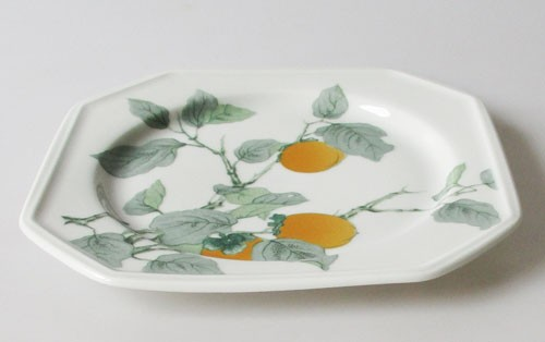Gallo Galerie de Porcelane Lombardia Apricot Brotteller, Teller klein 17,7 cm 2.Wahl