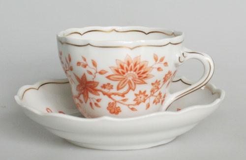 Hutschenreuther Selb Maria Theresia Lotos Kaffeetasse mit Untertasse