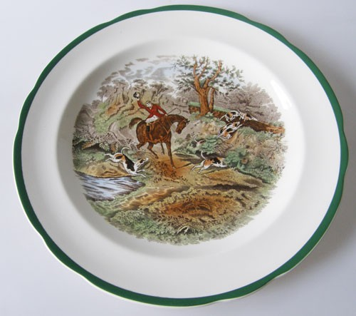 Spode The Hunt Speiseteller 26,5 cm Drawing The Dingle Nr.10