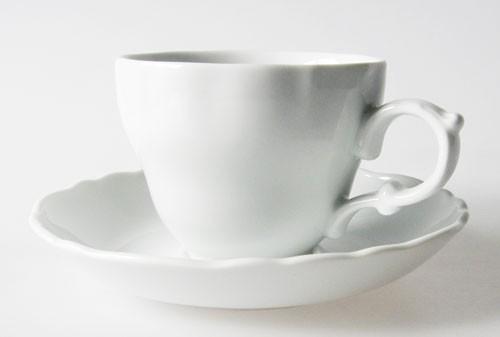 Hutschenreuther Maria Theresia weiß Kaffeetasse mit Untertasse Hotel