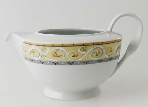 Winterling kleine Teekanne ohne Deckel 0,60 l Ornamente gelb grau