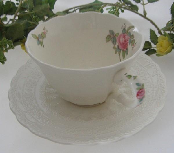 Spode Copeland Jewel Billingsley Rose Teetasse 2-tlg.