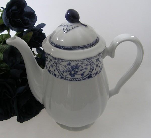 Thun Carlsbad blaues Landhausdekor Kaffeekanne 1,30 l