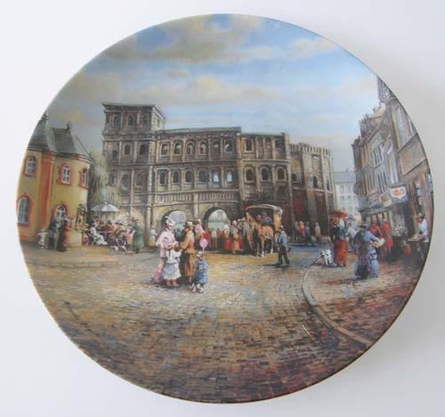 """Seltmann Weiden Wand-/Sammelteller 19,5 cm """"Berühmte deutsche Stadttore"""" Porta Nigra 1992"""