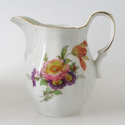 Milchkännchen Blumendekor und Goldrand Wundsiedel Retsch