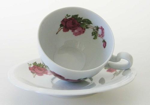 Heinrich Flora Dekor Rosen Kaffee-/ Teetasse 2-tlg.