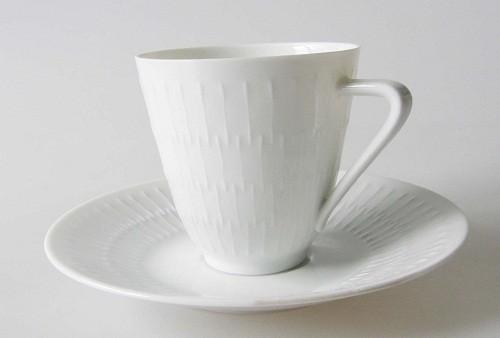 Hutschenreuther Selb Apart weiss Kaffeetasse mit Untertasse