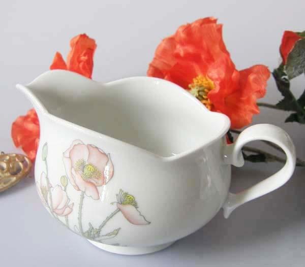 Gallo Galerie de Porcelaine Roter Mohn Sauciere 0,40 l