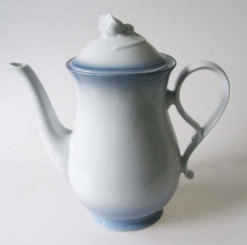 Mitterteich Form 2210 Kaffeekanne 1,30 l Randdekor blau