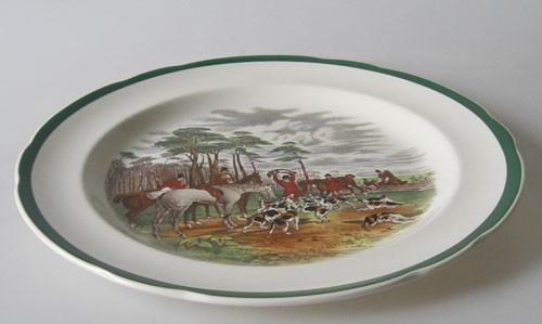 Spode The Hunt Speiseteller 26,5 cm The Death Nr. 8