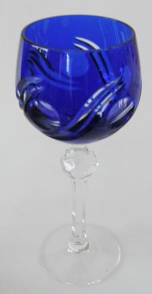 Römer Katharinen Hütte Glas Weinrömer Bleikristall dunkelblau