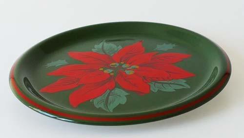 Winterling Speiseteller, mittel 24 cm grün rot Weihnachtsstern