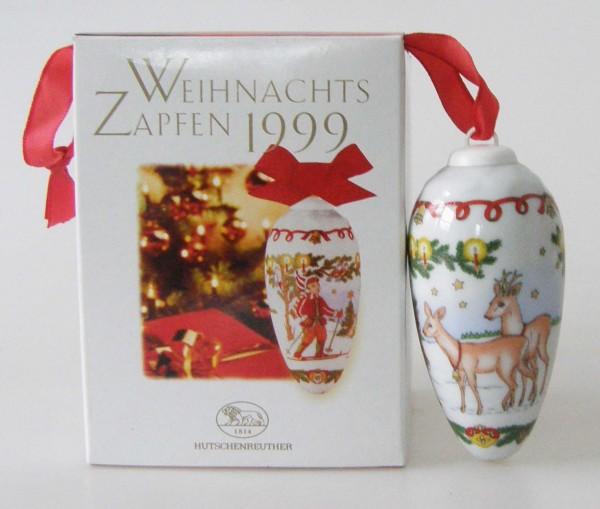 Hutschenreuther Porzellan Weihnachtszapfen Wildfütterung 1999