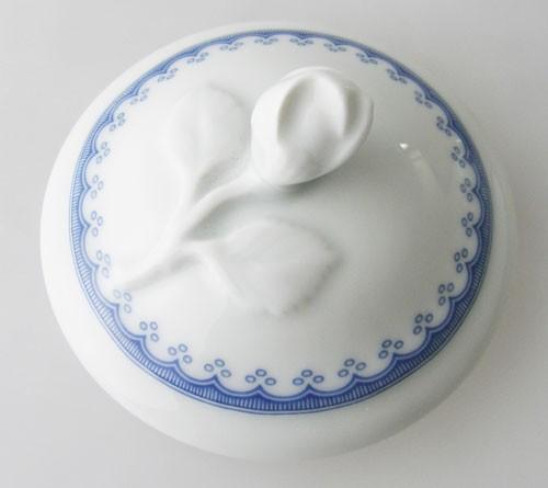 Hutschenreuther Maria Theresia blaues Muster Kannendeckel für Kaffeekanne
