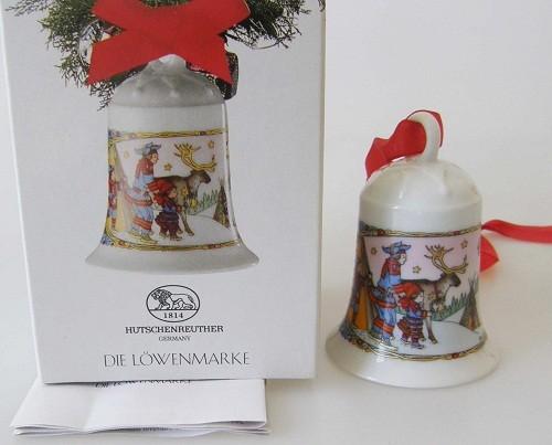 Hutschenreuther Porzellan Weihnachtsglocke Im Lappland 1995