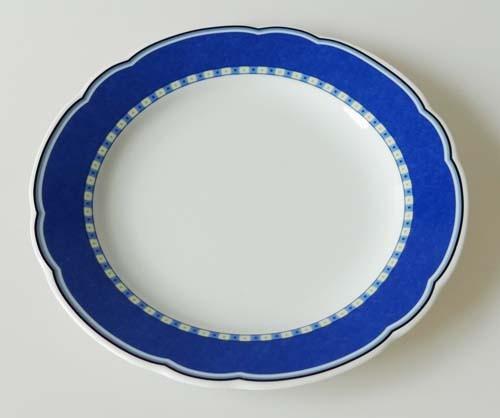 TCM Tchibo Mainau Frühstücksteller Ø 19 cm Dekor blau gelb