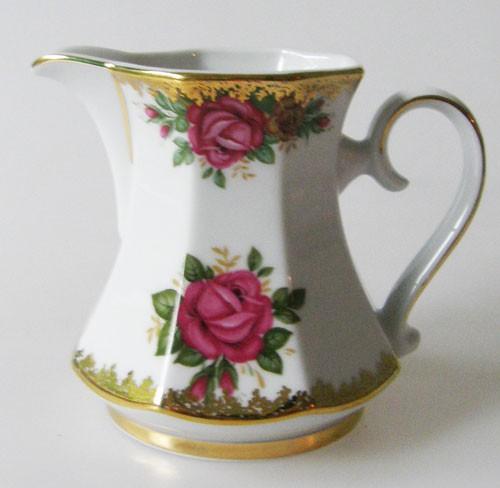 Winterling Rosendekor mit Goldrand Milchkännchen für 6 Pers.