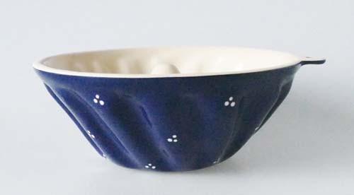 Keramik Backform Gugelhupf Ø 20 cm Rheinsberg blau-3 Punkt