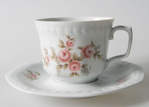 Seltmann Weiden Andrea rosa Rosenranken Kaffeetasse mit Untertasse