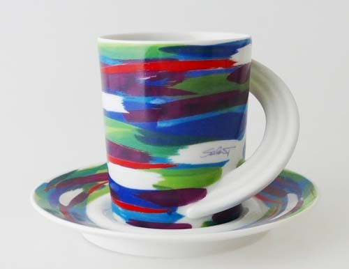 Rosenthal Cupola Colorata Kaffeetasse mit Untertasse