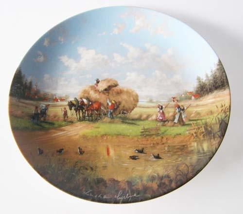 Seltmann Weiden Wand-/Sammelteller 19,5 cm Erntezeit in den Feldern1986