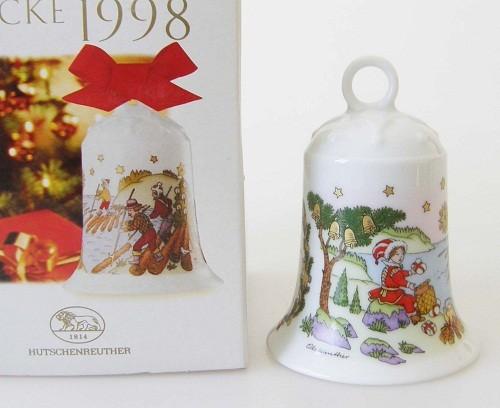 Hutschenreuther Porzellan Weihnachtsglocke Flößerlandschaft 1998