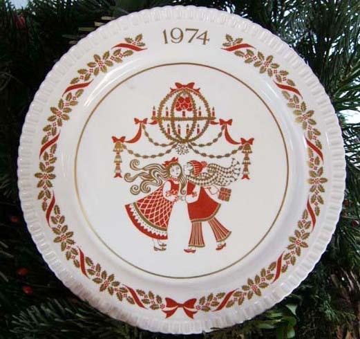 Spode Weihnachts / Sammelteller 1974 Nr. 5