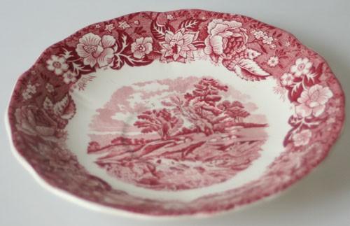 England Palissy England Thames River Scenes rot Untertasse für Teetasse 15 cm