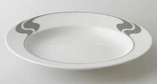 Rosenthal Asimmetria Grauraster Suppenteller 23 cm