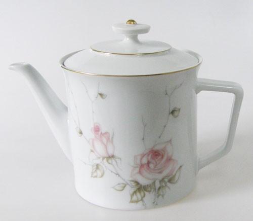 Teekanne Fürstenberg Goldrand mit Rosendekor 02611