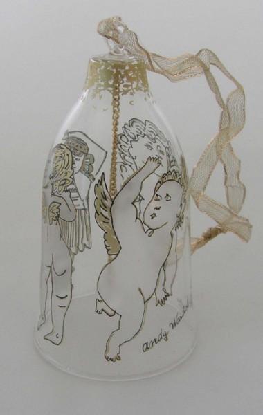 Rosenthal Andy Warhol Weihnachten Glasglocke Golden Angels mittlere Größe