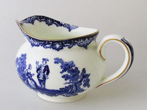 Royal Doulton Watteau blau mit Goldrand Milchkännchen 0,20 l