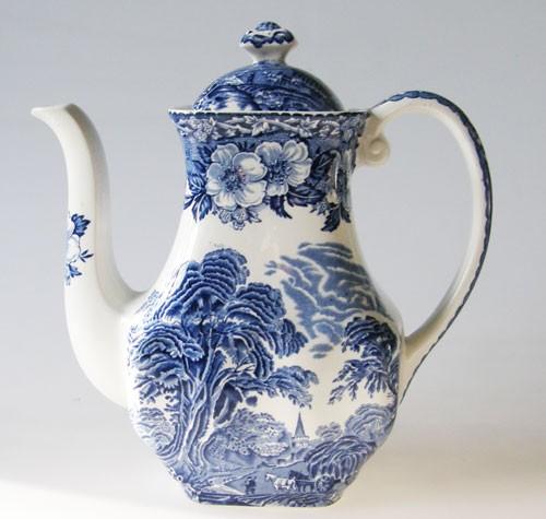 Kaffeekanne blau 0,80 Liter Enoch Wedgwood Woodland