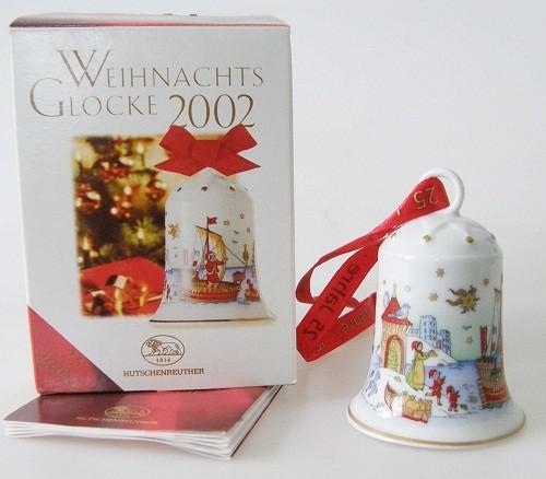 Hutschenreuther Porzellan Weihnachtsglocke Hansestadt 2002