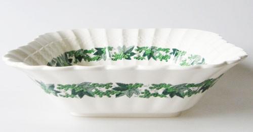 Spode Copeland Valencia grün Schüssel eckig 23,5 x 23,5 cm