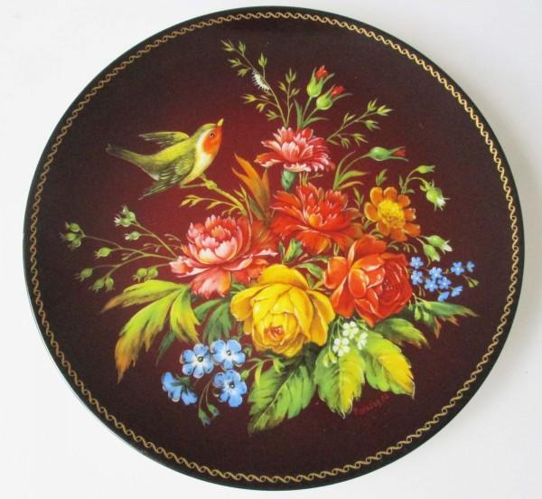 Sammelteller Bradex Blütenpoesien Phantasie Nr.60-B24-3.5 russische Wandteller